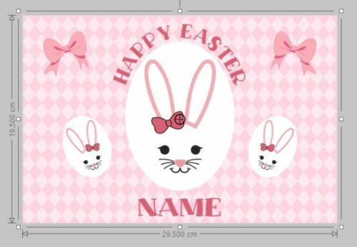 Personalised Easter Box Sticker Easter Delivery box digital print sticker DIY
