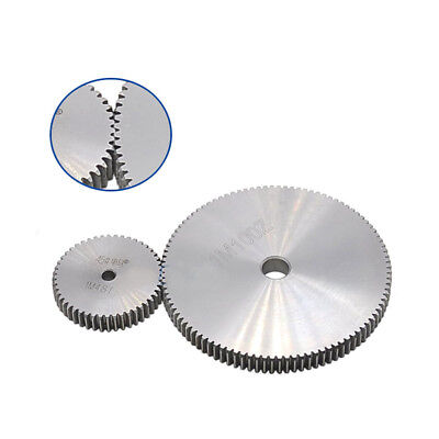 1 Mod 43T Spur Gear Steel Motor Pinion Gear Thickness 10mm Outer Dia 45mm x 1Pcs