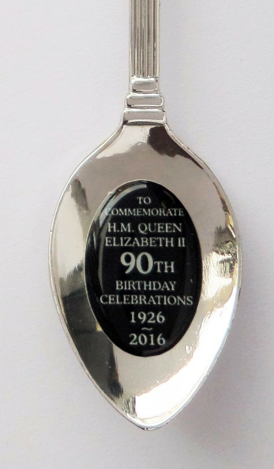 Queen Elizabeth II 90th Birthday Silver-Plated Collector/'s Spoon QB004