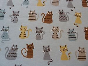 Cats-Print-Linen-Canvas-Fabric-Curtains-Blinds-Soft-Furnishing-Bags-Crafts