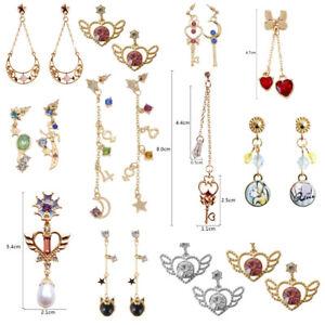 Women-Anime-Sailor-Moon-Crystal-Pendant-Earring-Ear-Studs-Kawaii-Jewelry-Cosplay