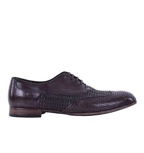 schoenen Gabbana lattice 05078 Sorrento geweven bruine kalfsleren Dolce schoenen IBq7B