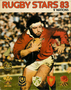 QUADRIGA-NST-Rugby-Stars-83-V-Nations-STICKERS-PART-SET-IN-ALBUM-NZ-WALES-SA