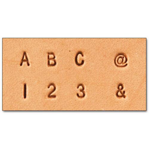 "3 mm Alphabet /& Number Set Tandy Leather Item 8137-10 Free Ship Craftool 1//8/"""