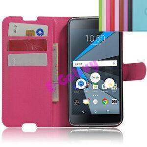 Cuir-Carte-Housse-Etui-Pied-Peau-pour-5-2-034-Blackberry-DTEK50-Smartphone