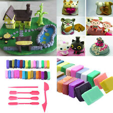32 Colour + 5  Tools Polymer Clay Block Modelling Moulding Sculpey Set DIY Gift*