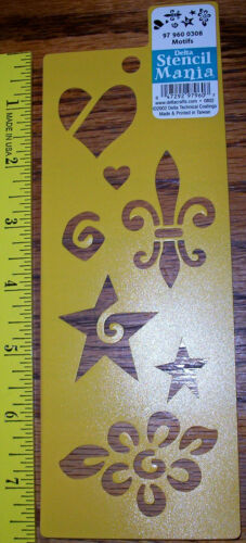 """7.5/"""" x 3/"""" New Delta Stencil Mania 7 variations to choose from"""