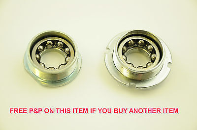 3R BOTTOM BRACKET AXLE SET COMPLETE WITH CUPS /& QUALITY BEARING SET THREADED NEW