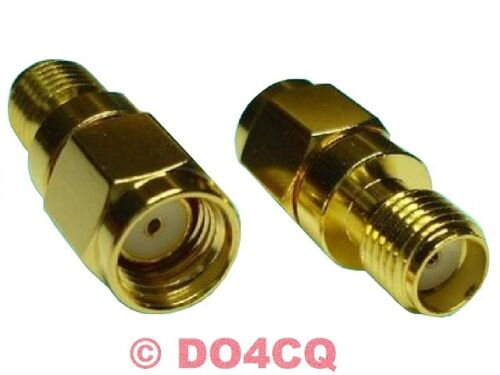 Adaptateur sma reverse rp connecteur sur sma femelle (teflon & plaqué or) - Funk & wlan