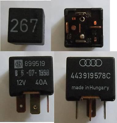 VW Audi Skoda No 267 Magnetic Clutch Relay 443919578C