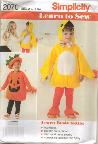 From UK Sewing Pattern Children/'s Kid/'s Halloween Costume 6m-4 yrs #2070