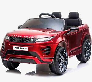 Licensed Range Rover Evoque 4WD 12V Ride On Battery Jeep 2020 Model - Red