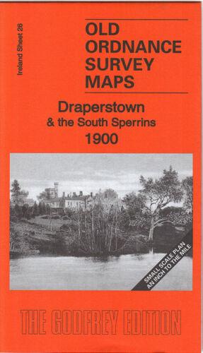 OLD ORDNANCE SURVEY MAP DRAPERSTOWN SOUTH SPERRINS 1900 DRUM MOUNTFIELD KILDRESS