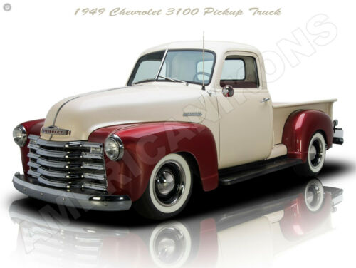 Fully Restored 1949 Chevrolet 3100 Customized Pickup Truck New Metal Sign