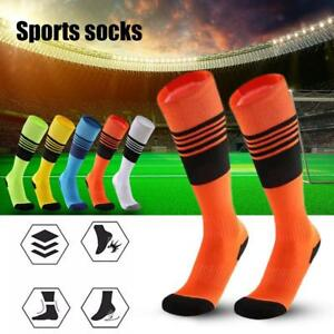 ecfd2f4a2bf Image is loading SPORT-FOOTBALL-STRIPED-SOCKS-KNEE-HIGH-Cotton-Soccer-