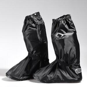 Waterproof Motorbike Shoe Boot Cover Motorcycle Rain Protect Reflective Stripe