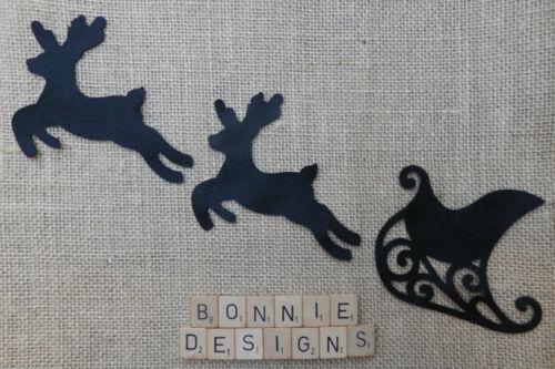 FELT Leaping REINDEER Die Cuts Appliqués Christmas Tree Embellishments VARIOUS
