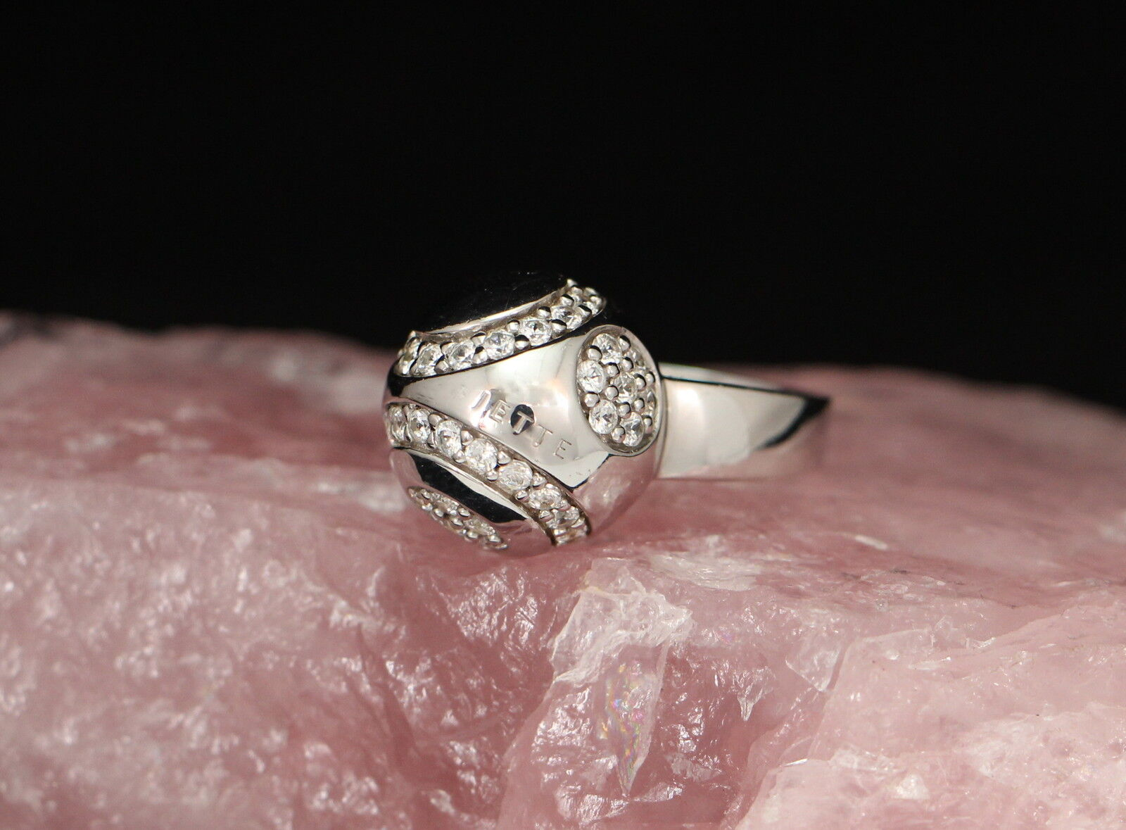 JETTE JOOP - Moderner Designer RING mit STEINCHEN   925er silver   + Etui