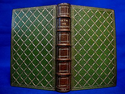 M.MARSHALL SIGNED FINE BINDING Antique Leather Gild of Women Binders Bookbinding