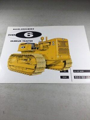 Original Allis Chalmers HD6E Crawler Tractor Sales Brochure