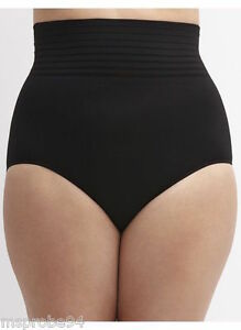 41c6b2f43647 LANE BRYANT 26/28 CACIQUE SMOOTHER BLACK HIGH WAIST BRIEF PANTY ...