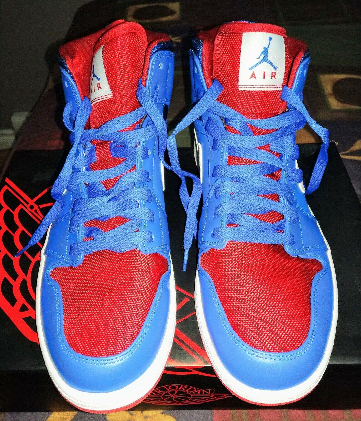 Nike Air Jordan 1 Mid Detroit Pistons Mens Größe 12 - Jordans Deadstock schuhe