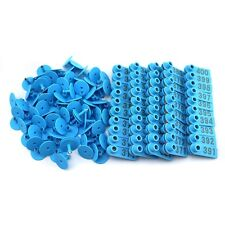 Blue 301 400 Number Plastic Livestock Ear Tags Animal Tag For Goat Sheep Pigs