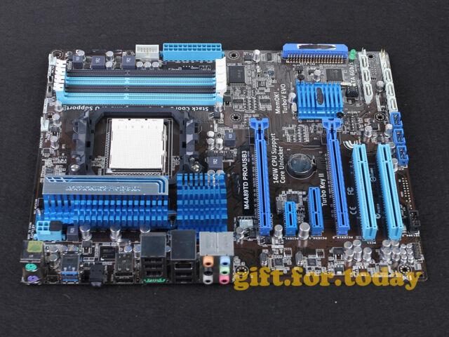 ASUS M4A89TD PRO/USB3 Socket AM3 AMD 890FX DDR3 ATX Motherboard With I/O