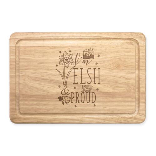 Je suis Gallois et fier rectangulaire en bois à découper Board-Drôle WALES FLAG