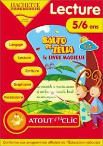 Salto et Zélia, lecture : Le Livre magique - Standard - 5/6 ANS -PC CD-ROM NEUF