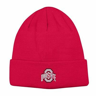 best sneakers 6ae37 ad58a Ohio State Buckeyes Mens CUFFED Knit Beanie Winter Cap Hat- One Size - NWT