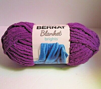 Pow Purple Bernat Blanket Brights 150G