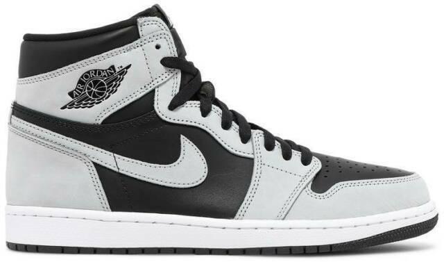 Jordan 1 Retro High Shadow 2.0 Men's Athletic Shoes - Black/Light Smoke Gray/White, 10.5 US (555088035)