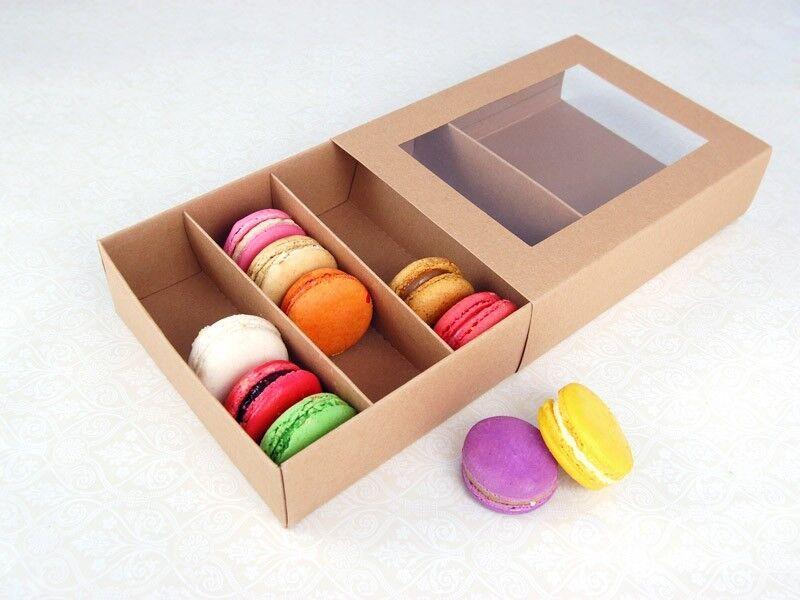 25 Sets of Kraft marron Macaron Boxes for 24 Macarons ( 3.60 Per Set)