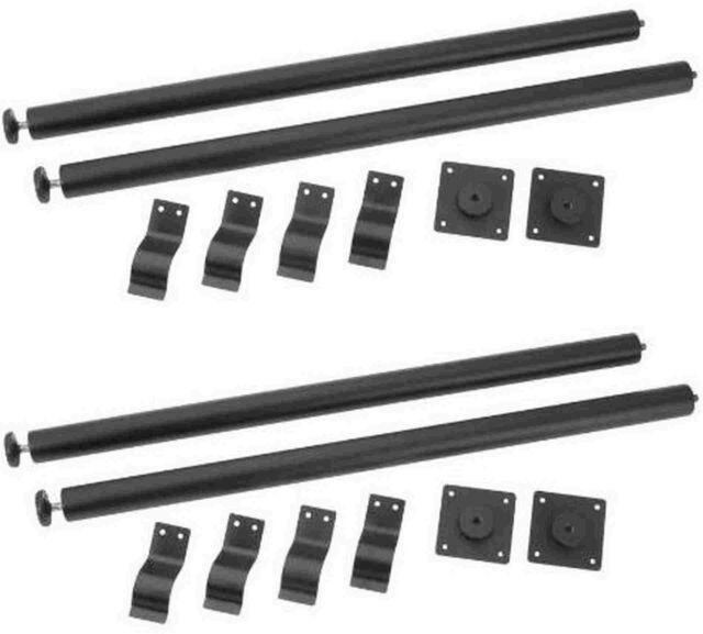 4 x ADAM HALL Rack-Tischbein 75-78 cm incl. Transporthalter Tischbeine Tischfuß