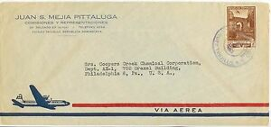 1953 Dominican Republic Air Mail cover to Coopers Creek Chemical Corp Phila PA