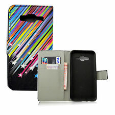 Card Holder PU Leather Wallet Phone Case Cover Stand For Samsung Galaxy J5 2015