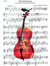 Art N Wordz Cello Birds Original Music Sheet Pop Art Print Wall/Desk Art