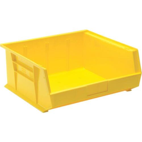 6-Pk Stackable Plastic Storage Extra Thick Bin Yellow Shop Garage Utility Part