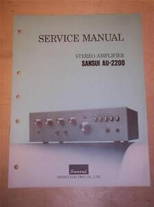 Details about Original Sansui Service Manual~AU-2200 Integrated  Amplifier~Repair