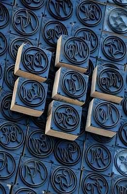 Jugendstil Wäschestempel Monogramm Wäscheschablone Textilstempel Textildruck Profitieren Sie Klein