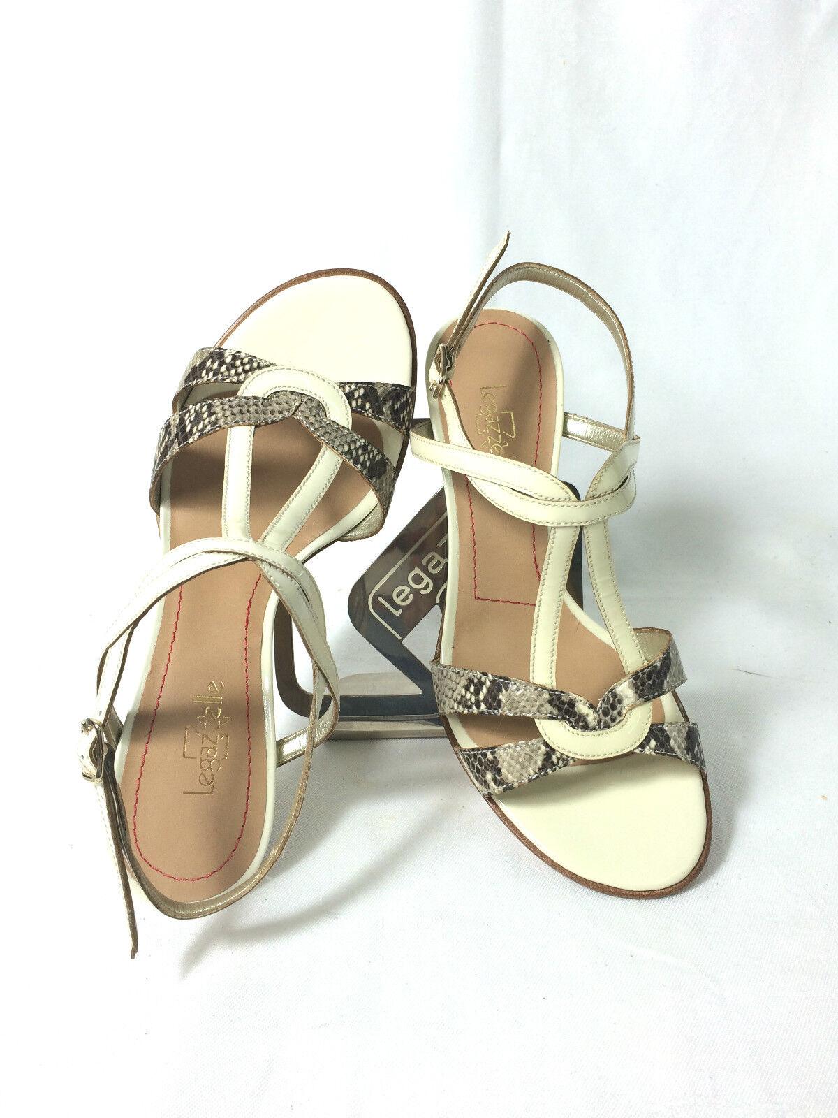 SANDALO SANDALO SANDALO MARCA LE GAZZELLE ColorE BEIGE PELLE VERNICE  H 7 ITALIAN zapatos  barato en línea