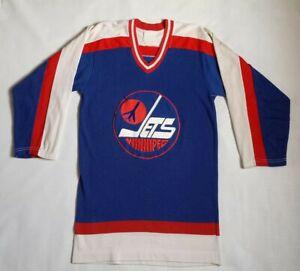 watch b4805 79bf4 Details about Vintage Rare Winnipeg Jets Hockey Jersey