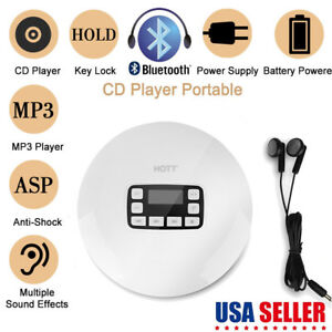 HOTT-Portable-Shockproof-Bluetooth-HIFI-Stereo-CD-Music-Player-with-Earphones-US