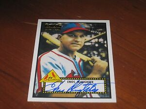 Details About Enos Slaughter Autographed Baseball Card Jsa Auction Certified
