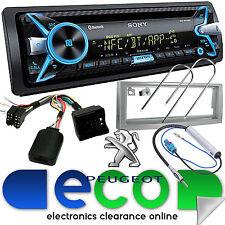 Peugeot 407 Sony CD MP3 USB 55x4 Bluetooth Car Stereo Silver Fascia Steering Kit