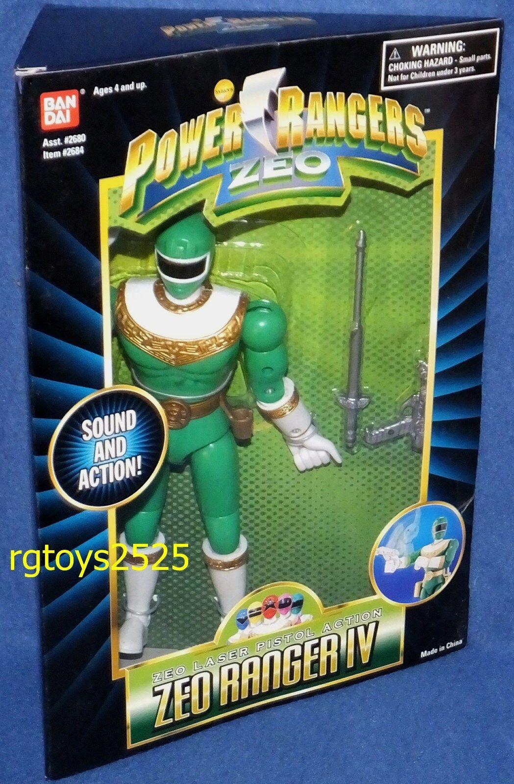 Power Rangers Zeo Ranger IV verde 8  Nuevo Sellado De Fábrica 1995