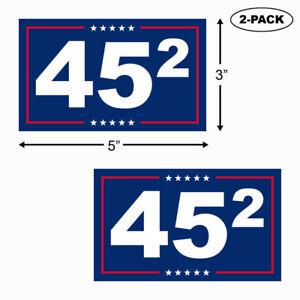 TRUMP-2020-Bumper-Sticker-Vinyl-Decal-45th-President-Second-Term-2nd-MAGA-2-PACK