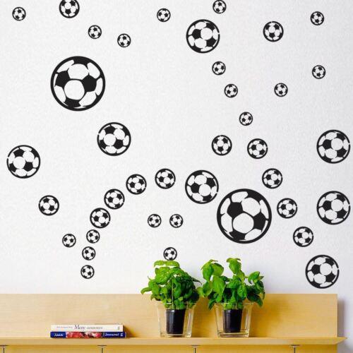 56 Mixed Size Football Vinyl Stickers House Window Car Decoration Peel /& Stick