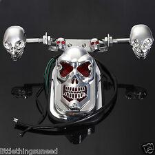 Motorcycle,skull,stop,Tail,Light,indicators,chop,trike,project,honda,suzuki,